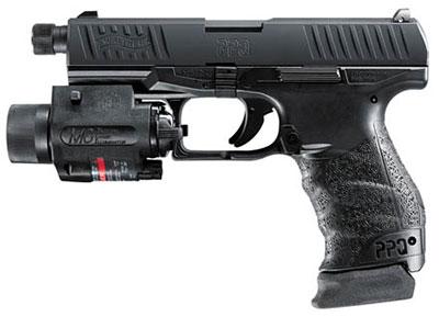 Для применения глушителя пистолет комплектуется удлиненным стволом длиной 118 мм. Удлиненный на 16 мм ствол увеличивает длину оружия до 196 мм (с защитным колпачком для резьбы до 198 мм, на снимке). Резьбовое крепление имеет общепринятый размер ½