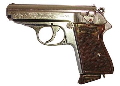 7,65-мм пистолет «Вальтер» РРК с никелированным покрытием