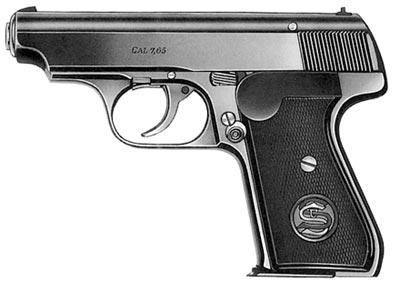 7,65-мм пистолет «Зауэр» 38 Н (без флажкового предохранителя)
