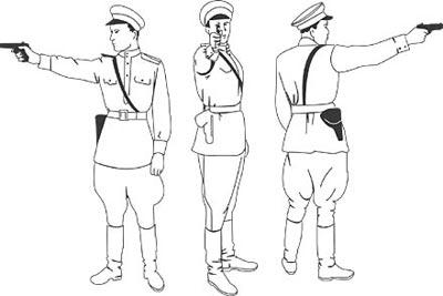 Положение стрелка при стрельбе из пистолета