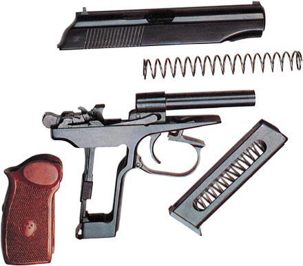 9-мм пистолет тип 59 (неполная разборка)