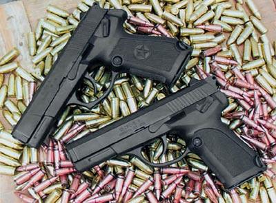 9-мм пистолет тип QSZ 92 (в экспортном варианте) и 5,8-мм пистолет тип QSZ 92 (в варианте для НОАК) с пистолетными патронами 9-мм DAP 92 и 5,8-мм DAP-5,8