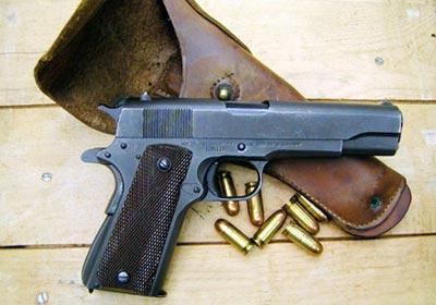 Пистолет кольт м 1911а1 с патронами 45