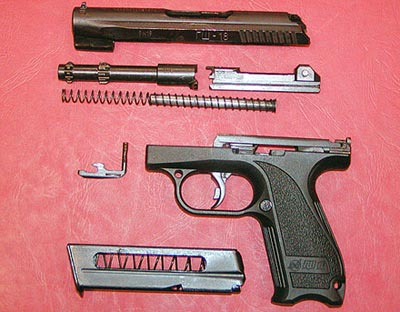 Неполная разборка пистолета ГШ-18