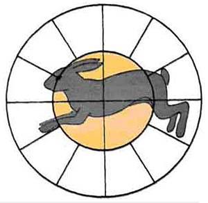 Проверка и оценка боя ружья проводится с использованием 16-дольной мишени