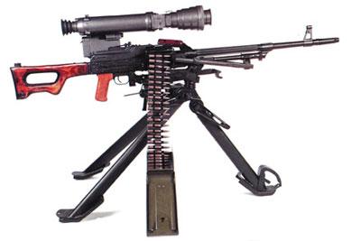 Единый пулемет ПКСН с ночным прицелом ППН-3