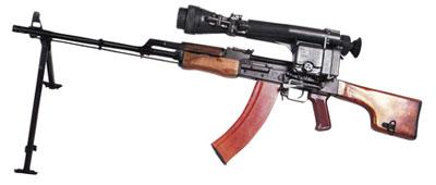 Ручной пулемет РПК-74 Н с ночным прицелом НСПУ