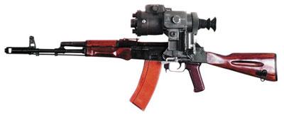 Автомат АК-74 с ночным прицелом НСПУ-3 (1 ПН51)