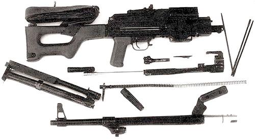 Пулемет ПК болгарского производства после неполной разборки