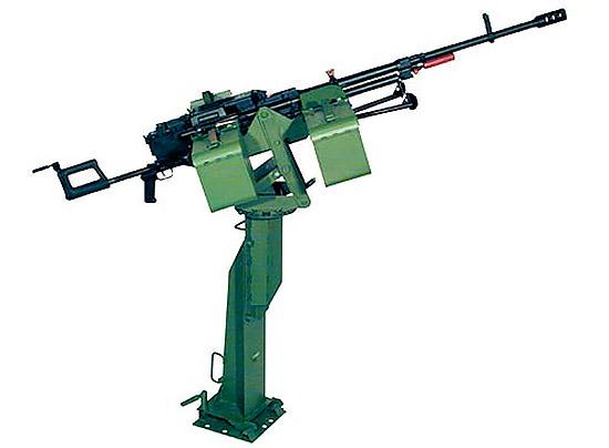 12,7-мм пулемет «Корд» на установке и стойке