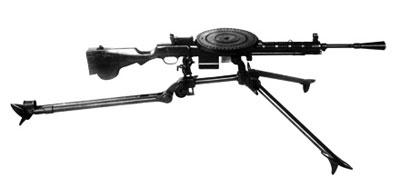 7,62-мм ручной пулемет ДП на универсальном треножном станке (для ведения наземной стрельбы)