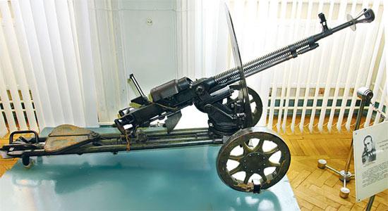 12,7-мм станковый пулемет образца 1938 г. ДШК («Дегтярева-Шпагина крупнокалиберный»)