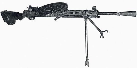 Ручной пулемет Дегтярева - «7,62-мм ручной пулемет обр. 1927 г.» или ДП («Дегтярев пехотный»)
