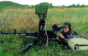 Пулемет НСВ-С-12,7 на станке 6Т7 с радиолокационным и ночным прицелом