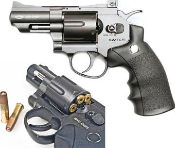 Пневматические револьверы Gletcher SW B25 и SW B4