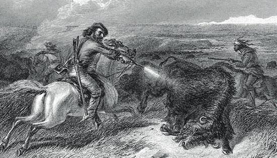 Выстрел из «Смит и Вессона». Охота набизонов вНебраске.