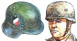 шлем немецкий общевойсковой и парашютный образца 1936 года
