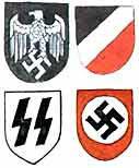 Каски и в СССР и Германии обычно окрашивались матовой краской защитного цвета