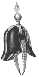 русская кожаная каска обр. 1844 г.