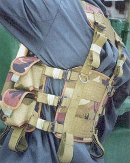 РЖ «Тарзан». Спина «разгрузки» открыта и свободна от сумок. В «пехотном» варианте спинной сегмент выполнен из сетки для улучшения терморегуляции