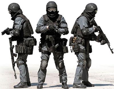 Экипировка сотрудника спецподразделения выполняющего полицейские задачи (black role)