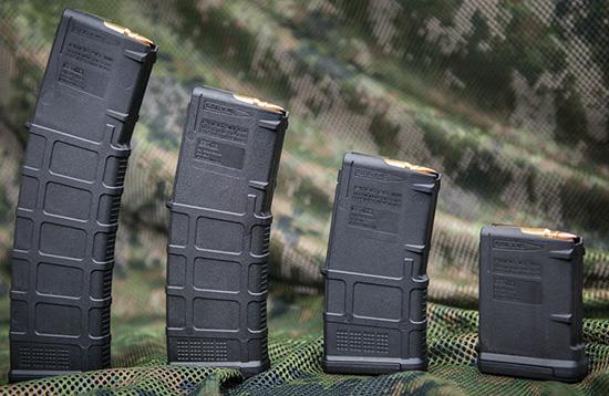 Модельный ряд магазинов Magpul PMAG Gen 3 для AR-15 включает модели емкостью 40, 30, 20 и 10 патронов