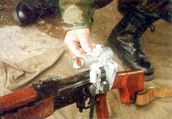 Прицел ПК-А – первый коллиматорный прицел, разработанный для войск. Время непрерывной работы –1000 ч.
