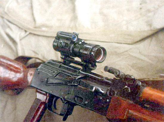 Использование лазерного целеуказателя совместно с коллиматорным прицелом ПК-01