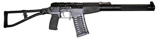 Современный российский АС (автомат специальный) «Вал» изначально разрабатывался как бесшумное оружие. Интегрированный глушитель совместно со специальным дозвуковым патроном СП-6 с тяжелой бронебойной пулей калибра 9 мм делают его грозным оружием сил специального назначения