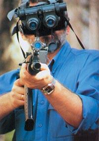 Испытания автомата АКС-74УН2 с ночным прицелом, сопряженным с ночными очками