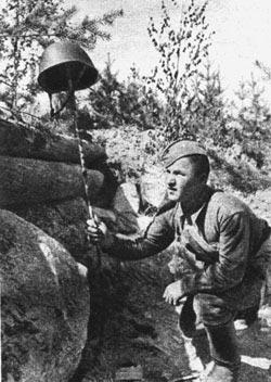 Приманка для германского снайпера. Калининский фронт 1942 год.