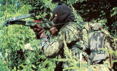 Советский снайпер в камуфлированной полевой форме