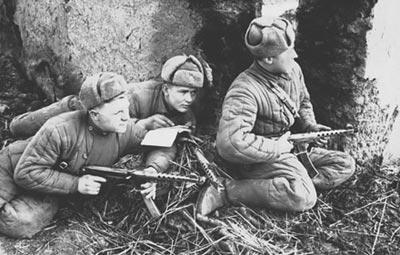 Советская разведгруппа горно-стрелкового полка. Карпаты. Декабрь 1944 года