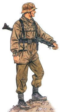 Германский горный стрелок-егерь одет в куртку