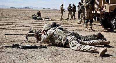 Польские военнослужащие из контингента ISAF знакомят с винтовкой «Тор» своих американских коллег