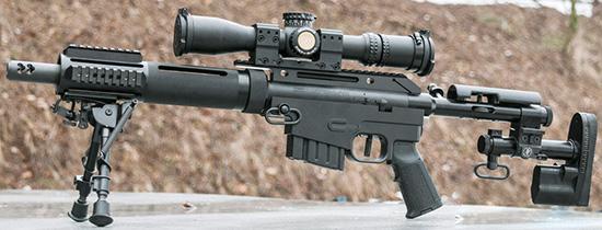 Компактная винтовка Alias CS5 отлично сочетается с компактным же прицелом NightForce ATACR 4–16х42