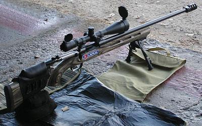 Образец тактической винтовки финской фирмы Sako, разработанной для точной стрельбы до 1500 метров патроном калибра .338 Lapua Magnum