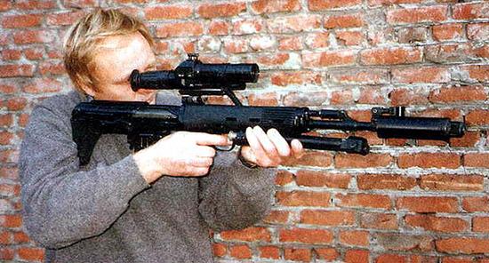 Снайперский автомат СВУ ОЦ-03-АС, разработанный на базе СВД, с 7-кратным коллиматорным прицелом ПКС-07