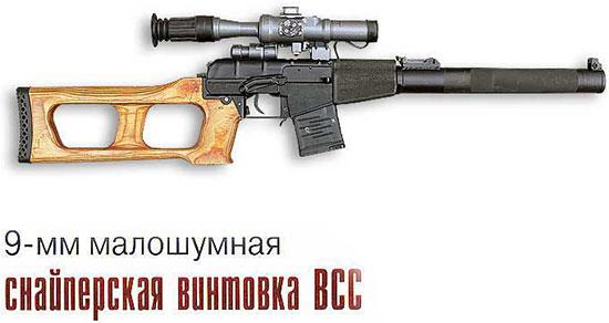 9-мм малошумная снайперская винтовка ВСС