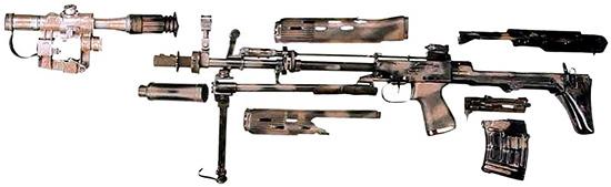 Неполная разборка снайперской винтовки СВУ-АС