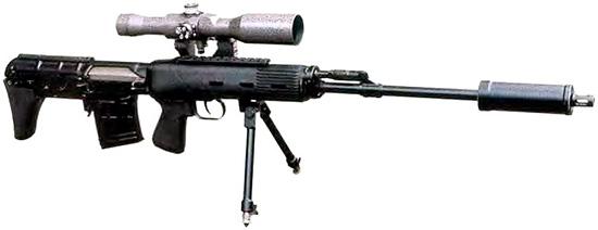 Снайперская винтовка СВУ-АС. Модификация с удлиненным стволом. Вид справа