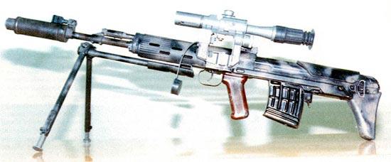 Снайперский автомат СВУ ОЦ-ОЗ-АС позволяет вести как одиночный, так и автоматический огонь