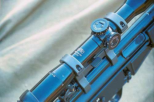 Механизм ввода вертикальных поправок оптического прицела с переменной кратностью Zeiss Diavari-DA 1,5-6х оцифрован до 750 м