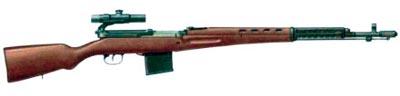 Снайперская самозарядная винтовка СВТ-40 с прицелом ПУ