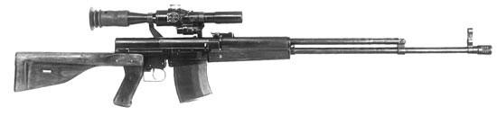 Опытная снайперская винтовка Симонова. Из-за низкой надёжности работы автоматики доработка винтовки была признана нецелесообразной