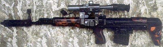 СВД-У – экспериментальный вариант укороченной винтовки Драгунова, оснащенный прибором бесшумной стрельбы