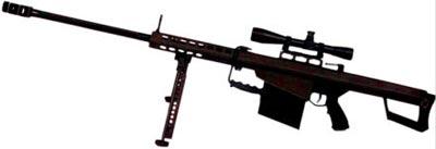 Американская 12,7-мм винтовка М82А1 «Баррет», состоит на вооружении в силах специальных операций нескольких стран