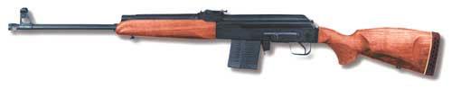 «Сайга-308» с отделямым прикладом. Съёмный приклад позволяет переносить, перевозить и хранить оружие с большим удобстом.