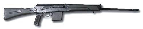«Сайга-410С» со складывающимся прикладом. Приклад и пистолетная рукоятка позаимствованы у боевого автомата АК74М.