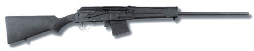 Самозарядное охотничье ружьё (карабин) «Сайга-20». В ружье могут использоваться патроны калибра 20х70 и 20х76 Magnum.